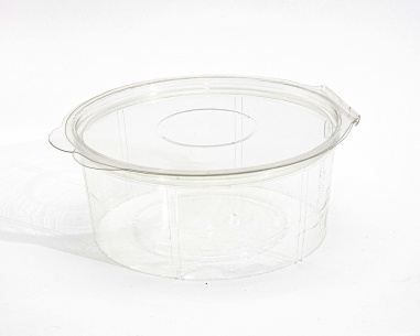 Round box with flat connected lid | SN: 1274-451