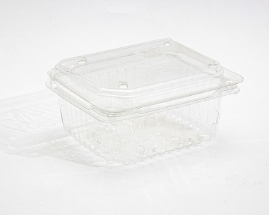 250 gm rectangular strawberry box, with flat connected lid |  SN: 1210