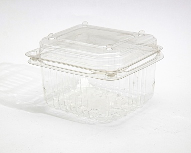 250 gm rectangular strawberry box, with dome connected lid | SN: 1211-1