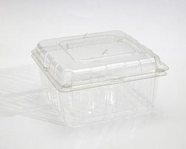 علبة فراولة مستطيلة سعة 750 غم بغطاء متصل | SN: 636328